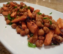 Indie Roasted Chickpeas & Carrots feat. Harissa