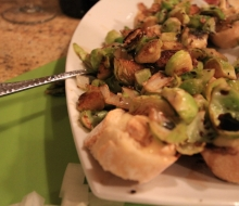 Brussel Sprout Brie Bruschetta