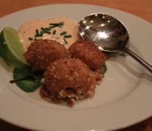 Fried Goat Cheese Balls with Chipotle Aioli