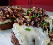 Open Face Goat Cheese sandwich W/ Funk Relish