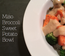 Miso Broccoli Sweet Potato Bowl