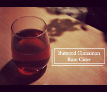 Buttered Cinnamon Rum Cider