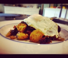 Chorizo and Ham Sausage Hash