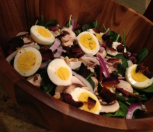 Songbirds' Spinach Salad